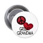 Abuela del amor de la paz gran pin