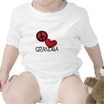 Abuela del amor de la paz trajes de bebé