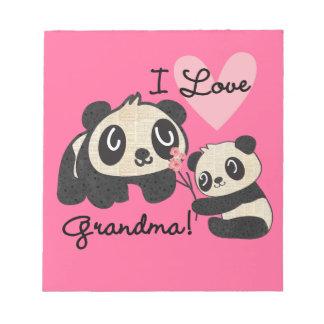 Abuela del amor de los osos de panda I Blocs