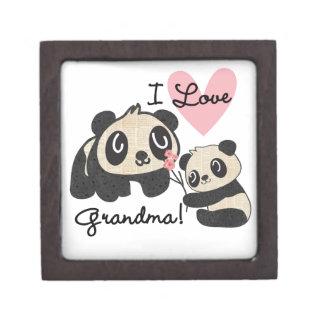 Abuela del amor de los osos de panda I Cajas De Joyas De Calidad