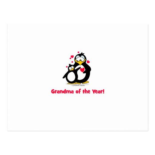 ¡Abuela del año! Tarjeta Postal