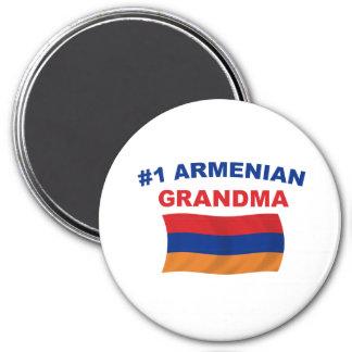 Abuela del armenio #1 imán redondo 7 cm