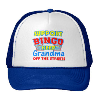 Abuela del bingo de la ayuda gorras