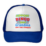 Abuela del bingo de la ayuda gorro