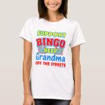Abuela del bingo de la ayuda playera