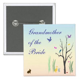 Abuela del boda de la primavera del Pin de la novi
