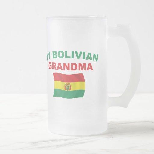 Abuela del boliviano #1 taza de cristal