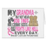 Abuela del cáncer de pecho de las placas de identi felicitaciones