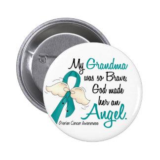 Abuela del cáncer ovárico del ángel 2 pin redondo 5 cm