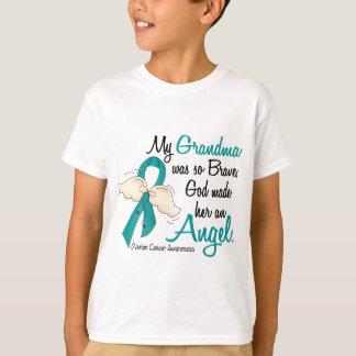 Abuela del cáncer ovárico del ángel 2 playera