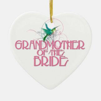 Abuela del colibrí de la novia ornaments para arbol de navidad