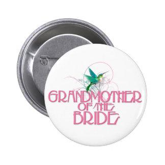 Abuela del colibrí de la novia pin