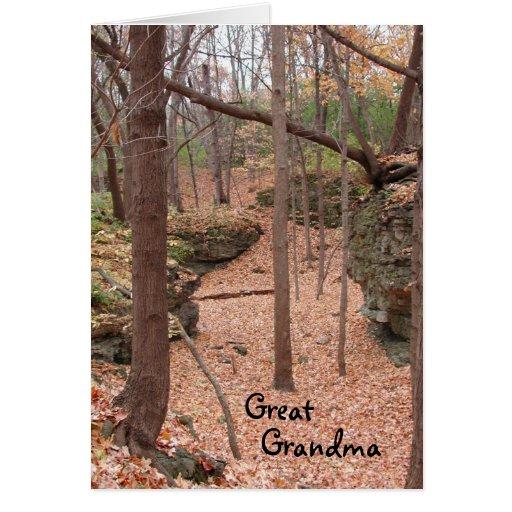 Abuela del cumpleaños del ~ del otoño gran tarjeta de felicitación