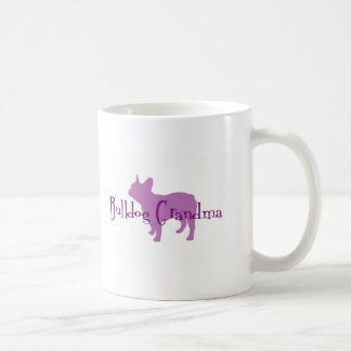 Abuela del dogo francés tazas de café