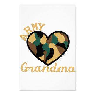 Abuela del ejército papelería
