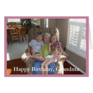 Abuela del feliz cumpleaños de la foto - tarjeta