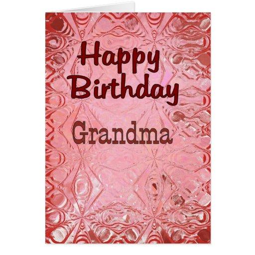 Abuela del feliz cumpleaños felicitación