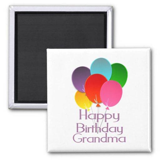 Abuela del feliz cumpleaños imán para frigorifico