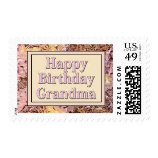 Abuela del feliz cumpleaños sello