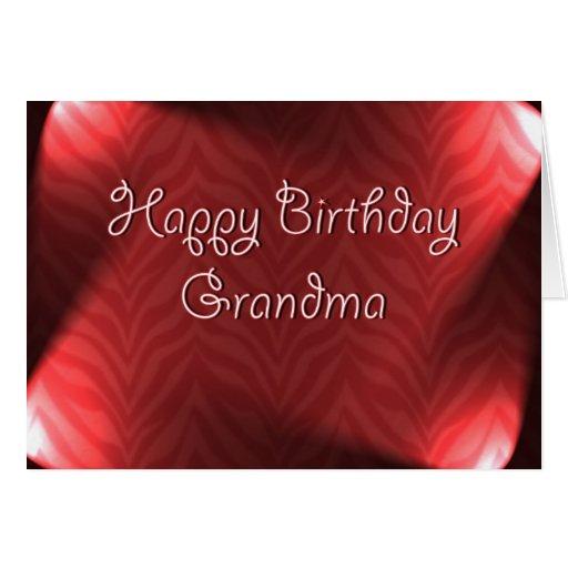 Abuela del feliz cumpleaños tarjeta de felicitación