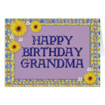 Abuela del feliz cumpleaños tarjetas