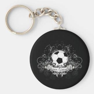 Abuela del fútbol llaveros personalizados