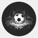 Abuela del fútbol pegatinas redondas