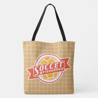 Abuela del fútbol por todo bolso de la impresión bolsa de tela