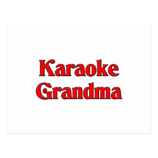 Abuela del Karaoke Postales