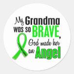 Abuela del linfoma Non-Hodgkin del ángel 1 Pegatina