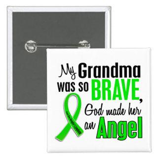Abuela del linfoma Non-Hodgkin del ángel 1 Pin Cuadrado