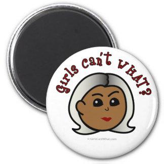 Abuela del logotipo - oscuridad imán redondo 5 cm