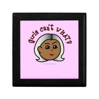 Abuela del logotipo - oscuridad joyero cuadrado pequeño