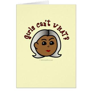 Abuela del logotipo - oscuridad tarjeta de felicitación