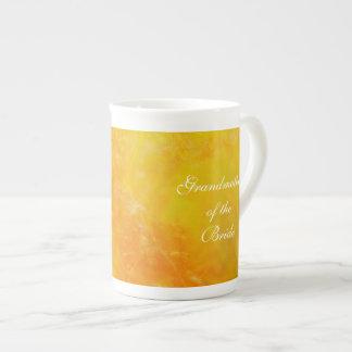Abuela del naranja del Wildflower de la novia Taza De Porcelana