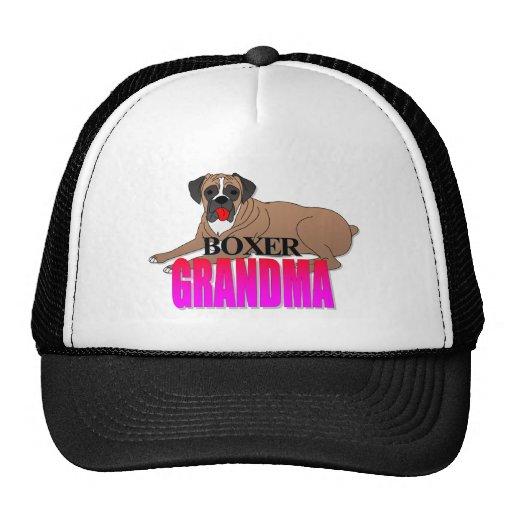 Abuela del perro del boxeador gorros bordados