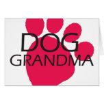 Abuela del perro felicitación