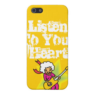 Abuela del rock-and-roll iPhone 5 carcasas