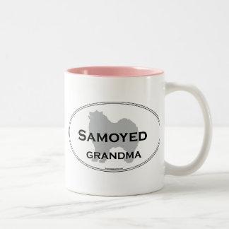 Abuela del samoyedo tazas de café