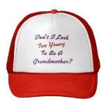 Abuela demasiado joven gorras