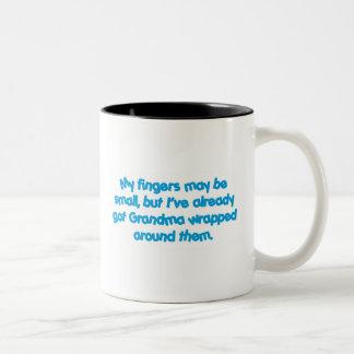 Abuela envuelta (azul) taza de café