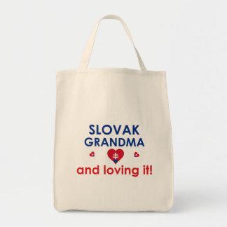 Abuela eslovaca y amor de él bolsa tela para la compra