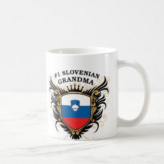 Abuela eslovena del número uno taza de café