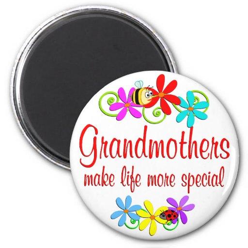 Abuela especial iman de frigorífico