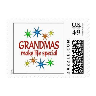 Abuela especial sellos postales