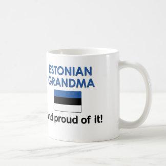 Abuela estonia orgullosa taza de café