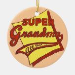 Abuela estupenda ornamentos de navidad