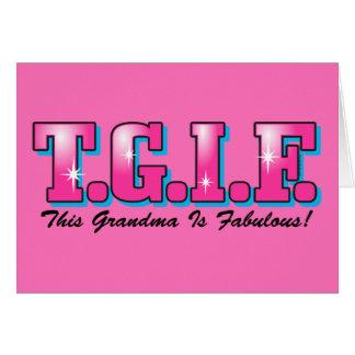 Abuela fabulosa de TGIF Tarjeton