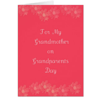 Abuela feliz del día de los abuelos tarjeta de felicitación