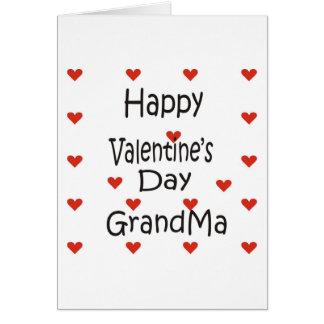 Abuela feliz del el día de San Valentín Tarjeta De Felicitación